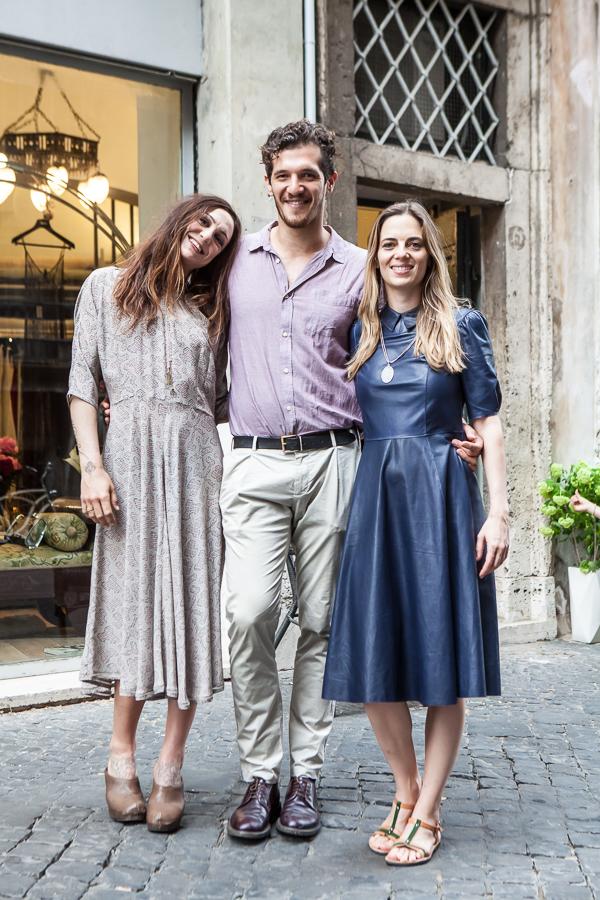 Opening Ludovica Amati 06 Ludovica Amati Michael Schermi e Regina Orioli